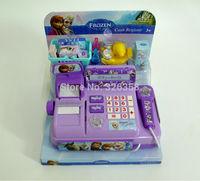 12pcs/lot kids Frozen Cash Register/baby boys girls Elsa Anna Educational Interactive toys/children Pretend Play Furniture Toys