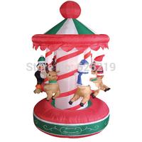 2 -meter-high Christmas rotating amusement park with inflatable Christmas decorations Christmas Penguin Christmas deer elderlych