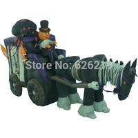 3.5 m long Inflatable pumpkin coach Pumpkin carriage  supermarket / shopping mall / bar Halloween decoration Halloween props