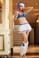 2014 New Fashion Christmas Costume For Adult with Bra, Skirt, Legwarmers  Free Shipping Christmas Costume Sexy