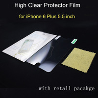 300sets/lot, 2014 New Arrival for iPhone 6 plus 5.5 inch ultra high clear screen film protector with retail pacakage