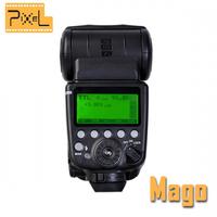 Pixel Mago Flash Speedlite GN65 TTL Master High Speed Sync 1/8000s Master Slave Speedlite Flash Compatible with pixel king pro