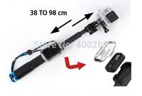 Cheap! Gopro Accessories 39-98cm Extendable Selfie Stick With Remote Housing Case Aluminium Go pro WIFI Monopod GP195