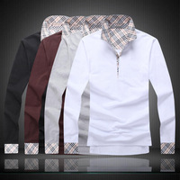 Top quality men's long sleeve shirt   t-shirt  #A884 95% Chinese size !!! cotton,5% spandex