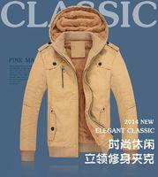 New brand Men's Winter Warm Thicken Jacket Outwear Coat Parka Stand Collar Men clothing Khaki