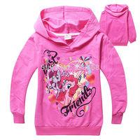 2015 New My little Pony Hoodies/ kids Carton Sweatshirts/Children long sleeve hoody tops,pink & blue,5pcs/lot