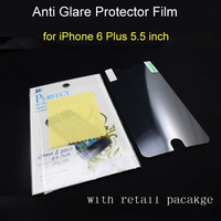 1000sets/lot, protector for iPhone 6 plus 5.5 inch anti glare screen film screen protective with retail pacakage