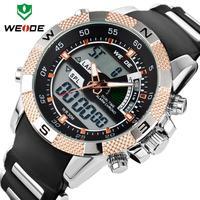 Chrismas Gift WEIDE 1104 Vogue Watch Quartz Original Japan Movement Wrist Watch Soft Silicon Watch Man Watch