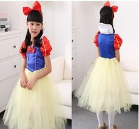 2014 new real shot Halloween masquerade cosplay paternity Snow White princess children's Day performance costumes free shipping