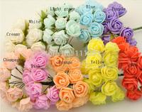 144 Artificial Head Rose Bouquet Latex Bridal Flower Wedding Centerpieces Craft