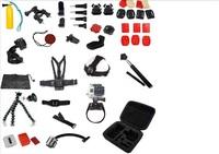 Go pro sj4000 Camera Full Set Accessories Selfie monopod tripod pole mount Head Hand Chest Strap Bag for gopro hero3 2 1 3+