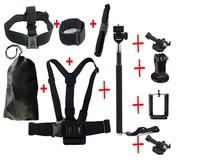 Gopro Go Pro Professional Tripod Selfie Monopod Mount Helmet For Iphone Camera hero3 Hero 3 Black Edition sj4000 Accessories Kit