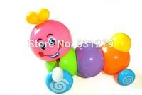 3x 2014 Newest Clockwork Caterpillar Toy Multicolor cartoon plastic twist forward Eco friendly baby Wind up Toys