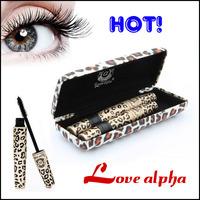 150sets/lot  Leopard Eyelash Extension Lengthening Transplanting Natural Fiber Mascara Grower Kit with Panther Case