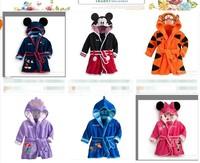 children  nigh robe minnie night gown mickey pajamas kids sleeping wear children home wear free shipping 6 styles robes