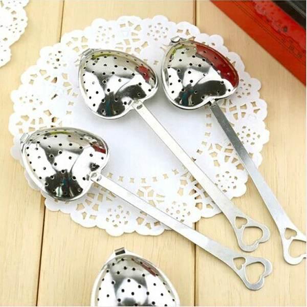 1PCS Hotsale Heart Shape Style Stainless Steel Tea Infuser Teaspoon Strainer Spoon(China (Mainland))