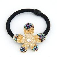 Korean fashion sweet OL  handmade flower starfish hair accessories rubber bands hair rope hair ring
