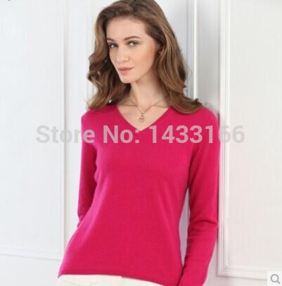 Женский пуловер V