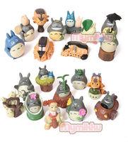 My Neighbor Totoro Hayao Miyazaki chinchilla small decoration model doll a full set of 20 exquisite decoration gifts