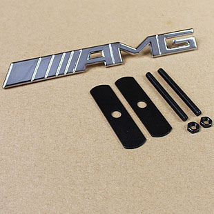 3D Metal Sticker Car Grille turning logo AMG badge emblem accessories for Mercedes Benz carros(China (Mainland))