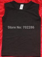 Kids Blank Tshirt black Singlet Sleeveless for baby boy baby girl