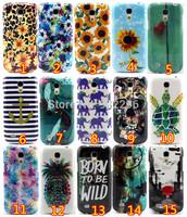 2014 New Arrival Cartoon Elephants Sea Turtle Pineapple Luxury Flowers Soft TPU Phone Cases for Samsung Galaxy S5 Mini 1pc, free