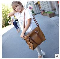 2014 American bag for woman cowhide shoulder bags woman's oil skin handbag