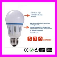 Wholesale B22 Led Light Bulb 5W 7W 9W LED Bulb Lamp, 220v Cold Warm White Led Spotlight Free Shipping