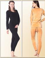 High Quality best women&men's thermal underwear long johns set thicken sexy underwear women's tops XXL double wear free shipping