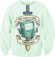 best quality G78 Harajuku 2014 New Brand Women pullover Casual Hoodies 3D Gamer Print O Neck Sweatshirt
