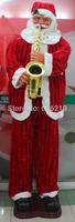 1.8m Electric misic bow Santa Claus/Christmas saxophone Santa Claus Hotel decoration welcome old ornamentscristmas decoration