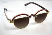 Semicircle stylish black frame sunglasses influx of people semicircle female brand sunwear gafas OCULOS de sol feminino new 2014