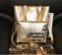 2014 autumn American bag for woman shoulder bags woman's crocodile handbag