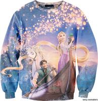 best quality G82 Harajuku 2014 New Brand Women Casual Sweatshirt 3D Frozen Print O Neck Hoodies women pullover