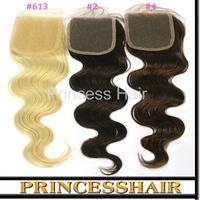 Lace Closure 4x4 Inch Grade 6a Indian Human Hair Top Lace Closure Helene Virgin Hair Bleach Knot