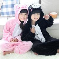 New Hot Children Kids Pajamas Kigurumi Unisex Cosplay Animal Costume Onesies no shoes