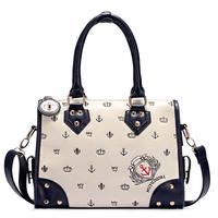 Free shipping 2014 women's fashion handbag shoulder bag navy style print women's handbag bag