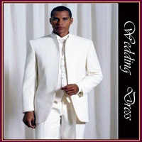 free shipping Single-Breasted 1-2 Button White colour suit