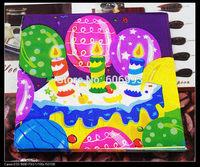 Food-grade Candle Paper Napkin Birthday Festive & Para Festas Tissue Napkins Decoupage Decoration Paper 33cm*33cm 1pack/lot