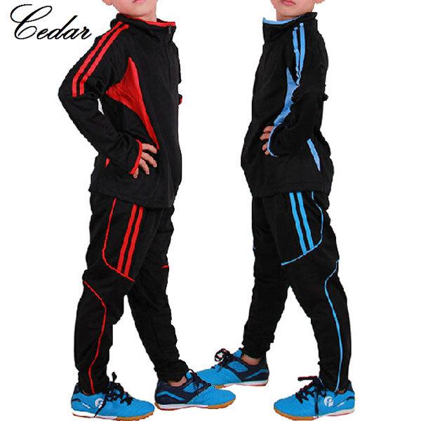 Kids Boys High Quality Sport Suit ,2014 New LikeSoda-Monkey Long sleeve child football traning cloth(China (Mainland))