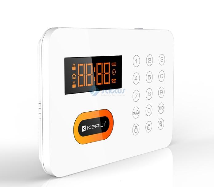 Luxury Intelligent Home alarm systems PSTN Keypads Burglar Alarm System KR-X1 English/French/Spanish system free shipping(China (Mainland))