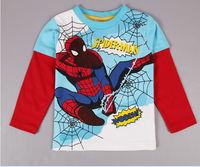 C009  2014 winter baby boys long sleeve cartoon 2~6age Spiderman  children clothing