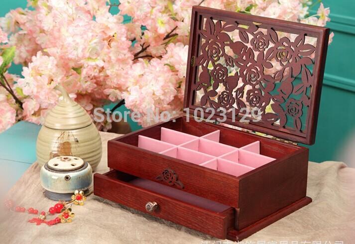 High Quality , New style, wooden jewellery box, packing box,comestic box art craft(China (Mainland))