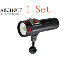 ARCHON W40VR D34vr Underwater Photographing Lights 4 Color CREE LED Underwater Biright Diving Flashlight+ battery+charger+