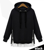 In winter 2014 New Europe and the code in the long section of female loose hooded head sets falbala Cashmere Sweater Hoodie plus