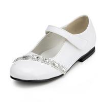 2014 New Girls Wedding Shoes Flower Girls' Wedding Flat Heel Comfort Flats with Rhinestone Shoes(More colors) JYG635