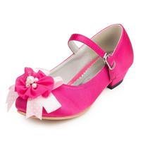 2014 New Girls Wedding Shoes Satin Flower Girls' Wedding Flat Heel Comfort Flats with Rhinestone Shoes(More colors) JYG632