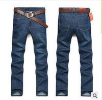 2014 new arrival autumn men's High quality fashion brand casual loose soft cotton Designer straight jeans pants 29-38 plus size