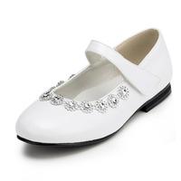 2014 New Girls Wedding Shoes Flower Girls' Wedding Flat Heel Comfort Flats with Rhinestone Shoes(More colors) JYG636