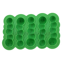 Free Shipping Party Bar Drinks Jelly Silicone Caterpillar Worm Ice Freeze Cube Tray Mold Mould For Home kicthen